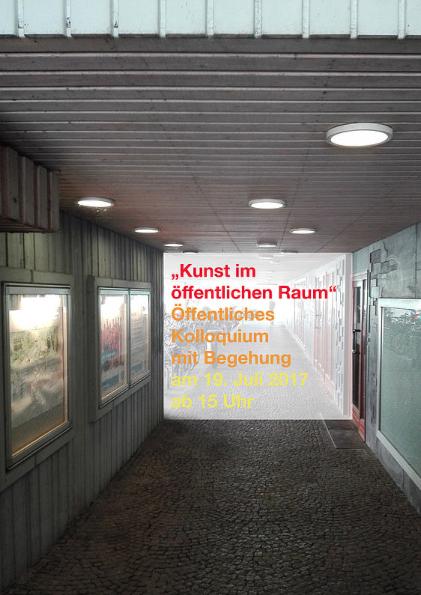 Sara Hornäk - Kunst im öffentlichen Raum – öffentliches Kolloquium