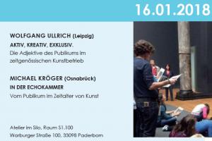 Sara Hornäk - Silogespräche mit Wolfgang Ullrich und Michael Kröger am 16.01.2018